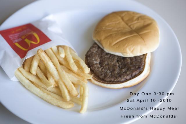 Hamburger v prvý deň, keď bol kúpený: Hamburger v prvý deň, keď bol kúpený